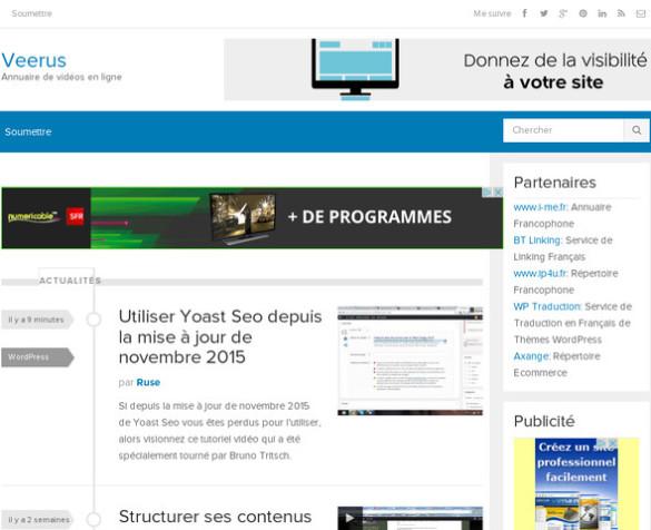 Veerus.fr est un annuaire de vidéos en ligne